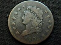 A  1808 CLASSIC HEAD LARGE ONE CENT PIECE    FINE ISH DETAILS