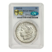 1903-O $1 SILVER MORGAN PCGS MINT STATE 67 PQ CAC CERTIFIED ILLINOIS SET NEW ORLEANS