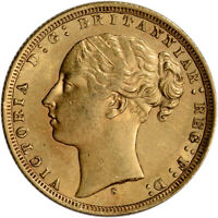 GREAT BRITAIN GOLD SOVEREIGN  .2354 OZ    VICTORIA YOUNG   AVG CIRC RANDOM DATE