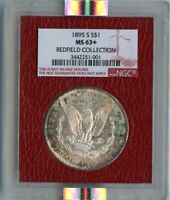 1895-S MORGAN DOLLAR S$1 NGC MINT STATE 63 REDFIELD COLLECTION