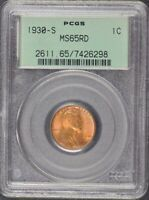 1930-S 1C LINCOLN CENT - TYPE 1 WHEAT REVERSE PCGS MINT STATE 65RD