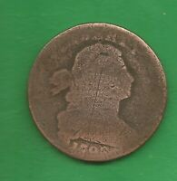 1798 DRAPED BUST LARGE CENT    222 YEARS OLD