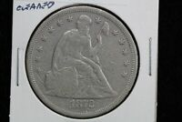 1872 SEATED LIBERTY DOLLAR CLEANED 08M2