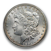 1897 S $1 MORGAN DOLLAR NGC MINT STATE 64 UNCIRCULATED OLD FATTY HOLDER SHARP STRIKE