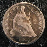 1858 SEATED HALF DIME - HIGH QUALITY SCANS F525