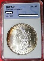 1882 P MORGAN SILVER DOLLAR  PERFECT BU UNCIRCULATED  20091006 EDGE TONING