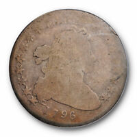 1796 $1 DRAPED BUST DOLLAR PCGS AG 3 ABOUT GOOD CAC APPROVED EARLY TYPE