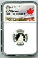 2020 CANADA 10 CENT SILVER PROOF NGC PF70 UCAM BLUENOSE DIME