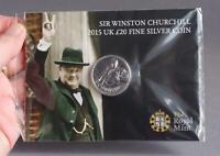 ROYAL MINT SIR WINSTON CHURCHILL SOLID 999 FINE SILVER COIN