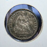 1861/0 SEATED LIBERTY HALF DIME H10D   VF/EXTRA FINE  SWEET ID CT332