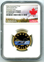 2019 $1 CANADA SILVER PROOF LOONIE DOLLAR NGC PF70 GILT COLO