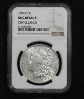 1894-O MORGAN DOLLAR NGC UNC DETAILS CLEANED
