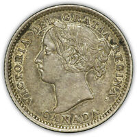 1896 CANADA 10 CENTS. ABOUT UNCIRCULATED. KEY DATE. BEAUTIFU