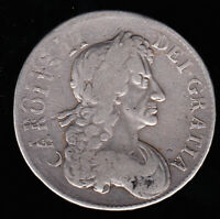 1681 CHARLES II GREAT BRITAIN SILVER CROWN DOUBLE STRUCK ERR