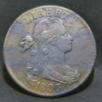 1803 DRAPED BUST LARGE CENT EXTRA FINE  DETAILS  DATE