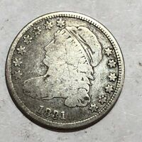 1831 VG CAPPED BUST US SILVER DIME. LOT1UM