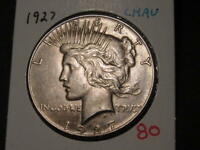 1927 PEACE DOLLAR CHOICE AU  ORIGINAL COLOR AND LUSTER