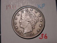 1911 LIBERTY NICKEL EXTRA FINE   ATTRACTIVE HIGHER GRADE COIN
