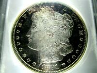 1881-S MORGAN DOLLAR 63-DMPL/DEEP CAMEO FROSTING/TONED
