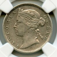 HONG KONG 1868 SILVER 20 CENT QUEEN VICTORIA NGC GRADED XF40