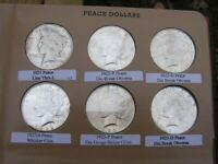 COMPLETE COLLECTION, 1921 TO 1935-S PEACE DOLLAR