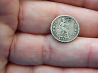 QUEEN VICTORIA SILVER GROAT 4P COIN DATED 1855 METAL DETECTI