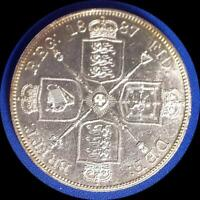 GREAT BRITAIN 1887 DOUBLE FLORIN WORLD COIN NICE