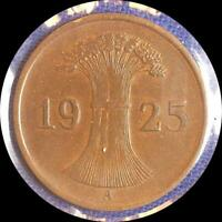 GERMANY 1925A 1928G 1933A 1939A 1924G  FIVE OLD COINS