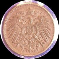 GERMANY 1889E 1904A 1906A 1918A 1920F  FIVE OLD COINS