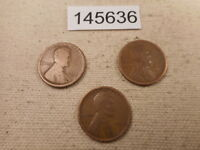 EARLY LINCOLN WHEAT CENT LOT - 1918 D, 1917 S, 1916 D COLLECTOR COINS -  145636
