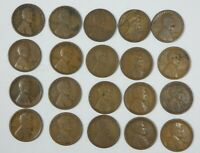 20-PIECE LOT X 1924-S LINCOLN/WHEAT EARS REVERSE CENTS CULL OR BETTER