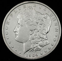 1904-P MORGAN SILVER DOLLAR.  HIGH GRADE. INV.A