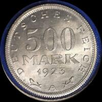 GERMANY 1923 A 500 MARKS OLD COIN CH.BU