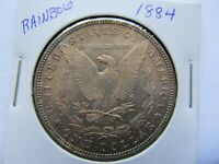 1884 $1 MORGAN SILVER DOLLAR UNCIRCULATED AND LY TONED