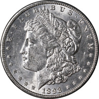 1893-P MORGAN SILVER DOLLAR  UNC  EYE APPEAL  LUSTER  STRIKE