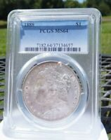 1888 P PCGS MINT STATE 64 MORGAN SILVER DOLLAR   EXAMPLE