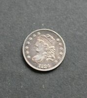 CAPPED BUST HALF DIME 1834 FINE GREAT DETAIL ABOUT UNCIRCULATED