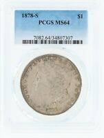 1878-S SILVER MORGAN DOLLAR PCGS MINT STATE 64 S$1