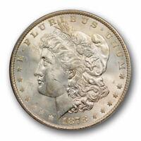 1878 $1 7TF REVERSE OF 1879 MORGAN DOLLAR ANACS MINT STATE 63 UNCIRCULATED LUSTROUS