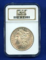 1882 CC NGC MINT STATE 65 MORGAN SILVER DOLLAR $1  DATE 1882-CC NGC MINT STATE 65 SUPER PQ