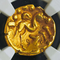 NORTHERN GAUL AMBIANI  1ST C. BC  GOLD STATER