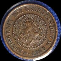 NETHERLANDS 1885 1886 1/2 CENT TWO COINS