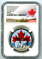 2019 CANADA GLOW IN DARK EVERLASTING ICONS 50 CENT NGC MS69