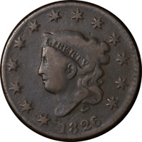 1826/5 LARGE CENT  VG N.8 R.2  STRIKE