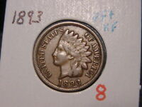 1893 INDIAN HEAD CENT VF  EXTRA FINE    ATTRACTIVE COIN COMBINED SHIPPING