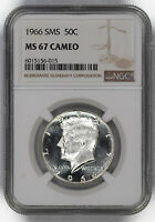 1966 SMS KENNEDY HALF DOLLAR 50C NGC MINT STATE 67 MINT STATE UNCIRCULATED - CAMEO 015