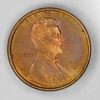 1919 S LINCOLN WHEAT CENT 1C BU BRILLIANT UNCIRCULATED RB / RD RED - COLOR 2366