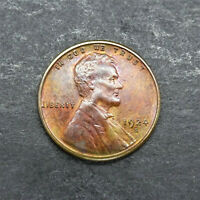 1924-S LINCOLN WHEAT CENT 1C KEY DATE BN AU CONDITION SN1056
