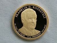 2014-S FRANKLIN D. ROOSEVELT PROOF PRESIDENTIAL DOLLAR CAMEO