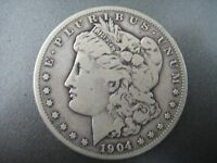 1904 -S  MORGAN  SILVER DOLLAR 114 YRS OLD & PART OF U.S. HISTORY   COIN
